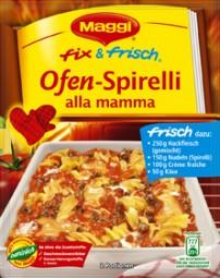 Maggi Meisterklasse fix& frisch Ofen-Spirelli alla mamma
