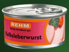 Rehm Kalbsleberwurst fein 125g Dose