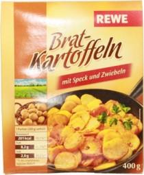 Rewe Bratkartoffeln Speck und Zwiebel 400g Schale
