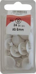 Abdeckkappen Pozidrive weiß 6-8mm