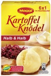 MAGGI Kartoffel-knödel Halb und Halb, im Kochbeutel