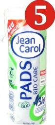 5 Stück Jean Carol je 60 Abschmink Pads Bio Care