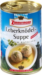 Zimmermann Leberknödel-Suppe 400ml Dose