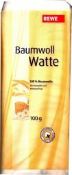 Eigenmarke Baumwoll Watte Kosmetik Watte 100g