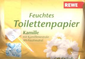 Rewe Feuchtes Toilettenpapier Mit Kamille 60 Stück
