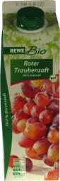 Rewe Bio Roter Traubensaft 1 Liter Direktsaft