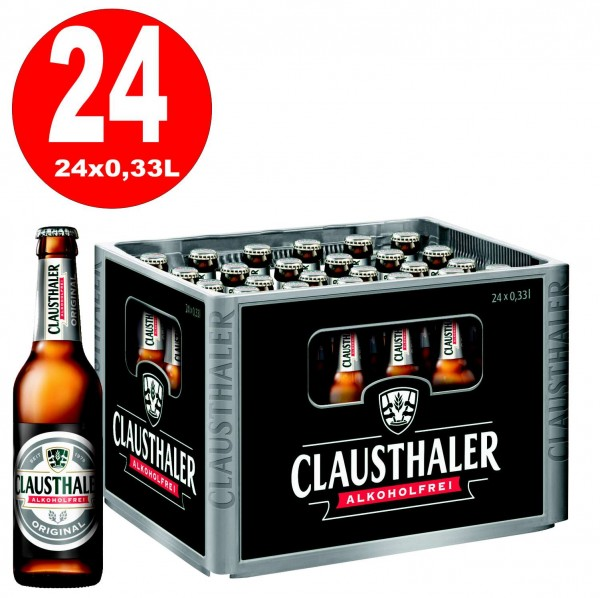 24 x Clausthaler Original ALKOHOLFREI 0,33 L Originalkiste MEHRWEG