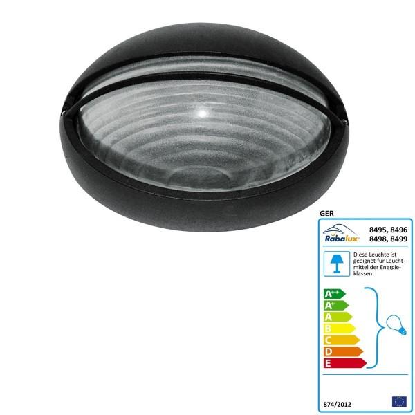 Rabalux Aula Deckenleuchte Hektor Farbe: schwarz Außenbeleuchtung Breite: 320