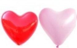 Luftballons herzform 25 cm Ø Unifarben