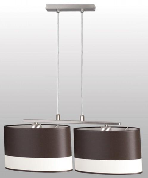 093/2 - Lampex Pendelleuchte Crema 2 metal/shade fabric 78 x 58 cm