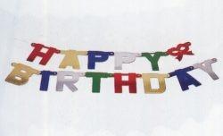 Buchstabenkette ...Happy Birthday