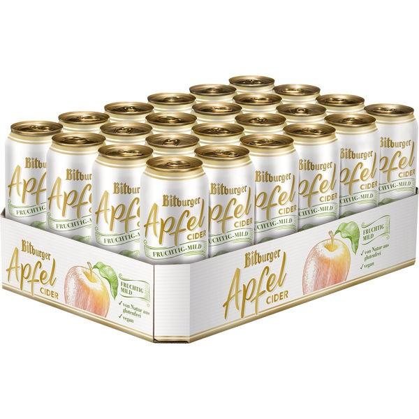 24 Dosen 0,5L Bitburger Apfel cider alc. 5,3% vol