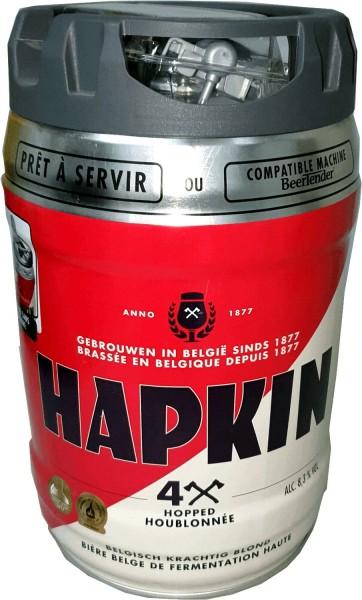 Hapkin belgisches Bier Partyfass 5 Liter Fass inkl. Zapfhahn 8,3% vol.