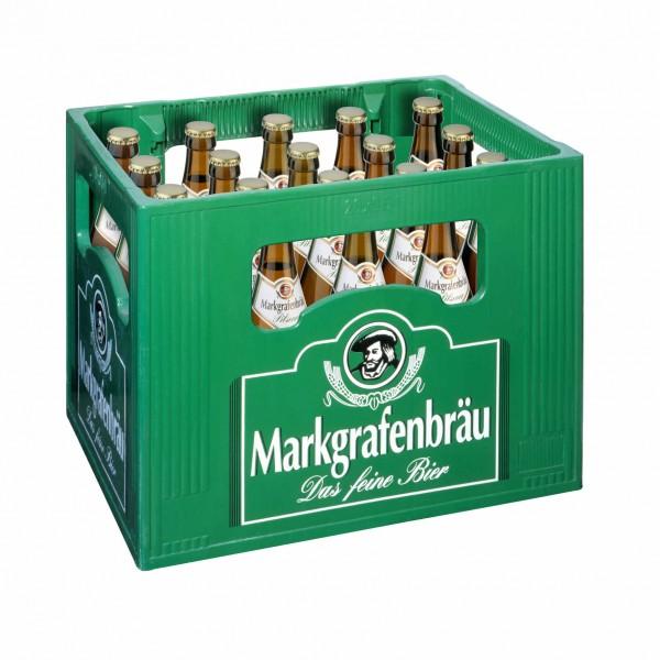 20 x Markgrafenbräu Pilsener 0,5 L- 4,7 % Alkohol Originalkiste