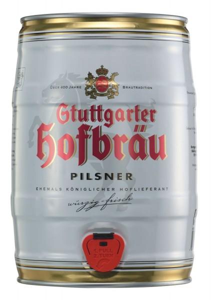 2 x Stuttgarter Hofbräu Pilsner 5 L Partyfass 4,9 % vol.