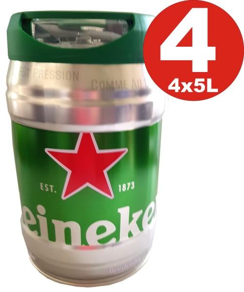 4 x Heineken Partyfass 5L draughtkeg 5%vol.