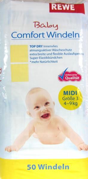 Eigenmarke Baby Comfort Windeln Midi Größe 3
