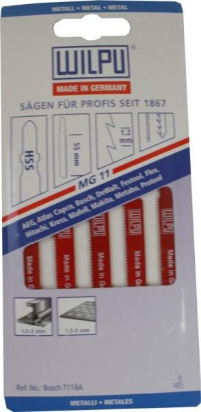 Stichsägeblätter Mg 11 A. 5 Stk.