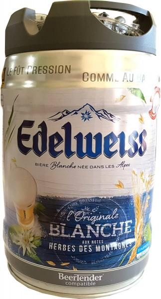 Edelweiss, blanche 5 Liter Partyfass 5% vol weissbier aus den französichen Alpen