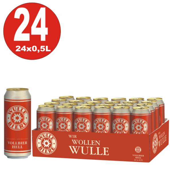 24x 0,5L Dosen Wulle Vollbier hell 5% Vol.-_EINWEG