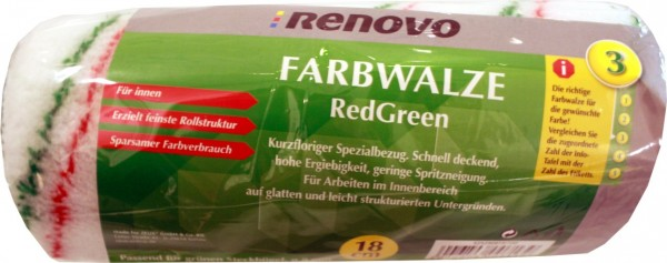 EM Farbroller Red / Green 18 cm