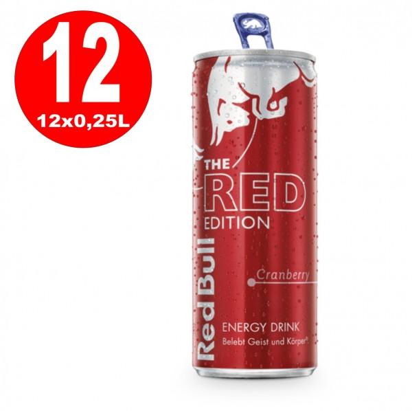 12 x Red Bull red edition Energy Drink 250 ml Dosen_EINWEG