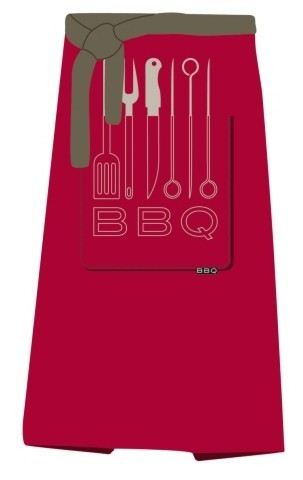Grillschürze BBQ 100x80cm rot