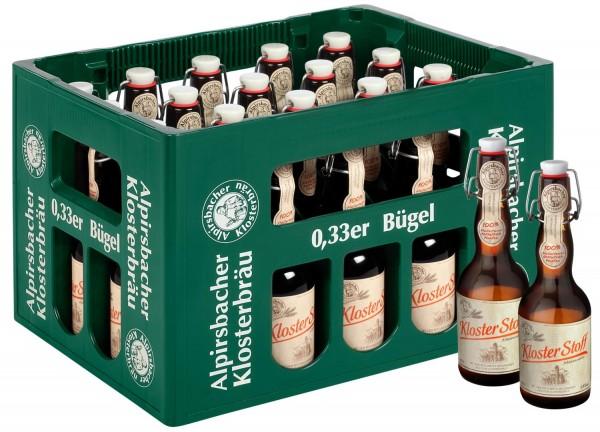 20 x Alpirsbacher Klosterbräu Kloster Stoff Märzenbier 0,33L 5,9% vol. Originalkiste MEHRWEG