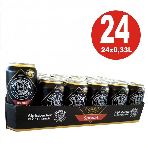 24 x 0,33L Dosen Alpirsbacher Klosterbräu Spezial Bier 5,2 % Vol inklusive Pfand_EINWEG
