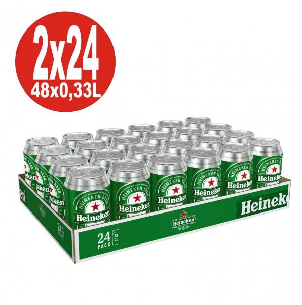 2 x 24x0,33L Dosen Heineken Lager Bier 5% Vol inklusive Pfand_EINWEG