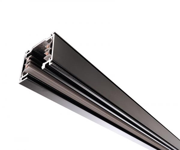 IVELA Stromschiene 3-phasen 230V quadratisch 1m schwarz