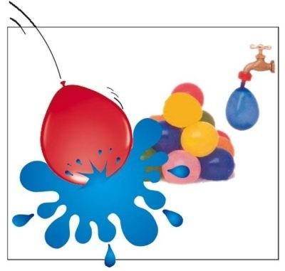 Folatex Wasserbombe-Luftballon 30cm x 50 Stück