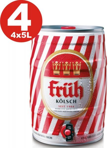 4 x Früh Kölsch 5 L Partyfass 4,8 % vol.