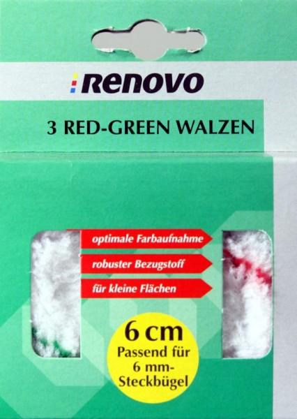 3 red-green-Walzen Polya. 6 cm