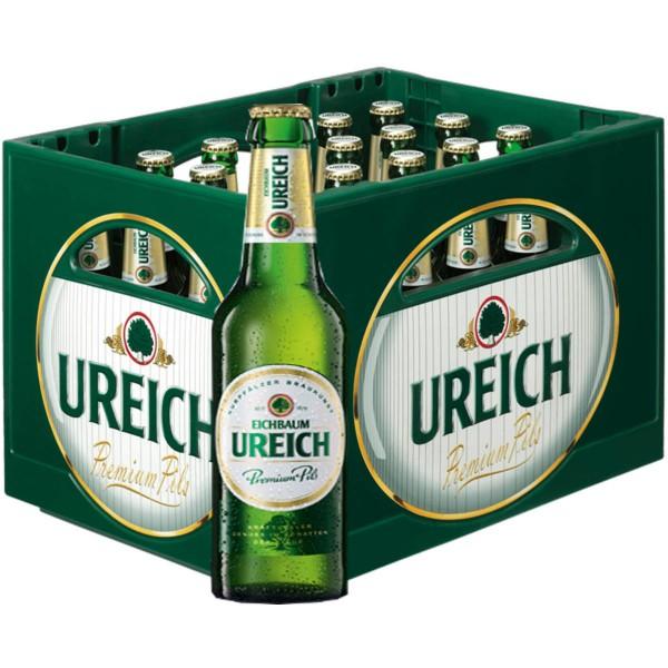 20 x Eichbaum Ureich Pils 0.5l 4,9% vol. Kiste MEHRWEG Reduziert MHD 10/2019