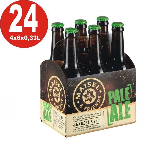Maisel+Friends 24 x Pale Ale Craftbier 5,2%vol. Alk. Originalkiste - Ein Brett an Hopfen-Aroma MEHRW