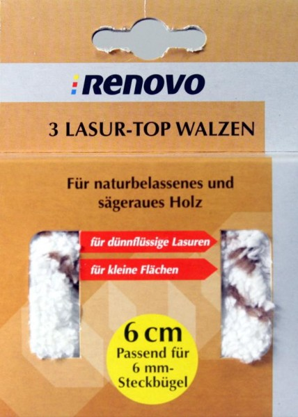 3 Lasur-Top Walzen Poly. 6 cm