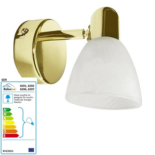 Rabalux Spot Soma Farbe: Gold/weißer Alabaster Modern Breite: 80 Höhe: 120