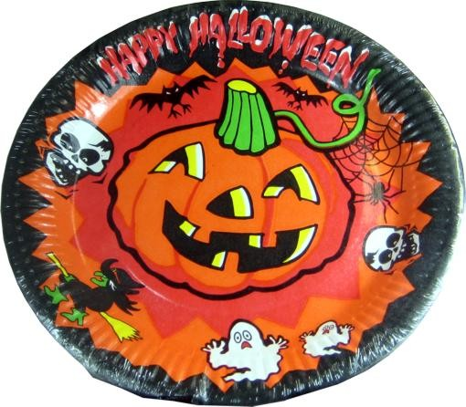 Happy Halloween Papierteller 8 St. Packung