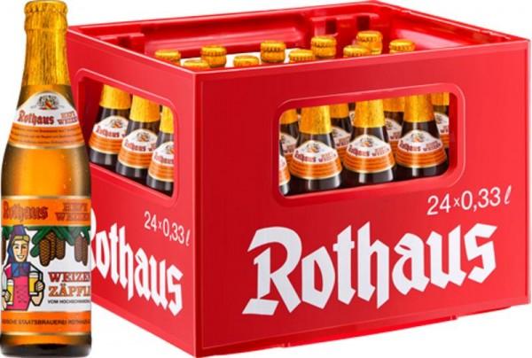 24 x Rothaus Hefeweizen Zäpfle 0,33 L- 5,4% Originalkiste Weizenzäpfle MEHRWEG