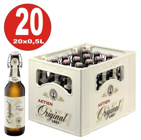 Aktien Original 20 x 0,5 Liter 5,3% vol Originalkiste MEHRWEG
