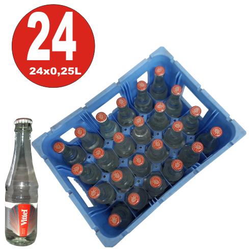 24 x Vittel Gourmet stilles Mineralwasser 0,25L Glas Flasche in Originalkiste MEHRWEG