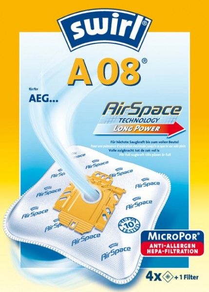 Swirl Staubfilterbeutel A08 Airspace