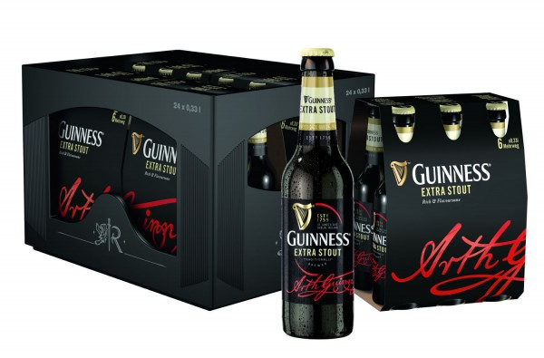 24 x Guinness Extra Scout 0,33 Liter 4,1 % vol. Originalkiste MEHRWEG