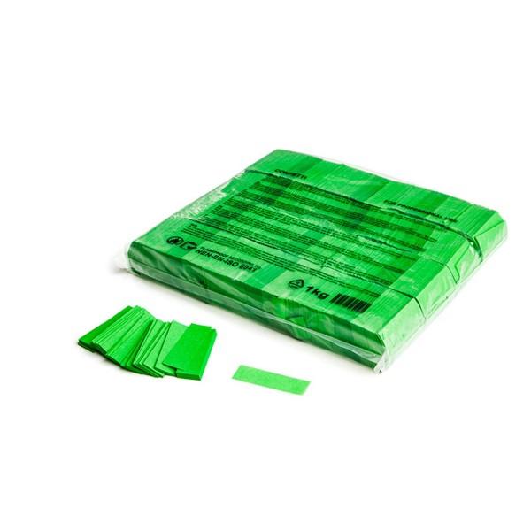 MAGICFX Slowfall confetti rectangles 55x17mm - Light Green