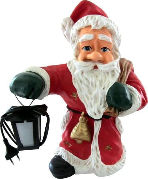 Weihnachtsmann mit Sack und lampe K397 ca. 45 cm
