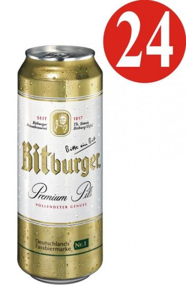 24x0,5L Dosen Bitburger Pilsener 4,8% Vol._EINWEG