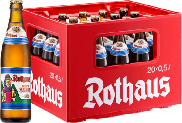 20 x Rothaus Hefeweizen Alkoholfrei 0,5 L Originalkiste MEHRWEG