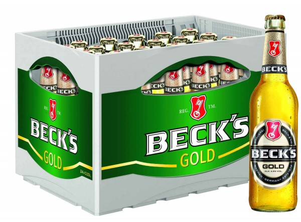 Becks Gold 0.33l 4,9% vol. in Originalkiste