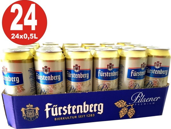 Fürstenberg Pils 24x0,5L Dosen 4,9% Vol._EINWEG